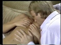 golden-haired gal deep throats a hard cock on the