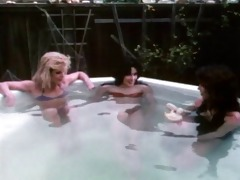 raven, ginger and susan - sexy tubbing with the