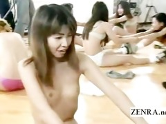 subtitled bizarre japanese half nude aerobics