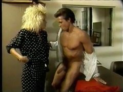 big haired blond gets screwed - classic x