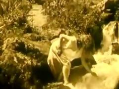 vintage erotic clip 7 - nude girl at waterfall