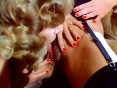 vintage golden-haired threesome