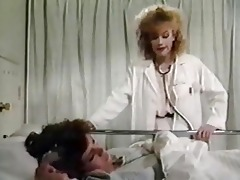 vintage doctor having lesbian sex with patient