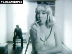 vintage strap-on femdom sex scene