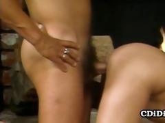 bunny bleu - hot vintage threesome sex