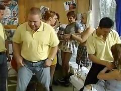 school dorm orgy