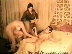 vintage porn 1960s - retro hairy nubiles trio