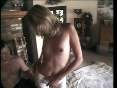 hottie getting cum load on her face