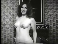 vintage babe with a hairy beaver