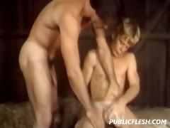 retro gay barnyard bondage