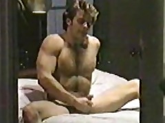 jerry butler 80s str8 porn star jacks off.