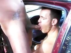 hot hunks having public interracial fun