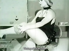 smart golden-haired taking off her clothes