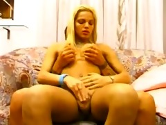 blonde shemale drilled