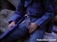retro homosexual military mutual masturbation