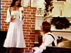 vintage cutie likes cock and cum in her pleasant