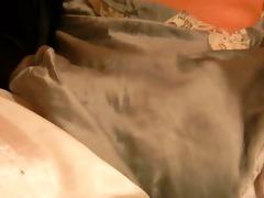 jerking off &; shooting in silk slide
