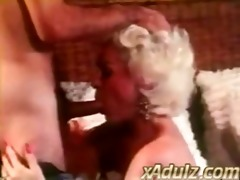 retro grey haired granny gives fleshly deepthroat