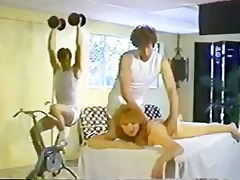 table massage turns into double penetration