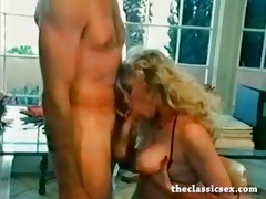retro office sex with a breasty babe