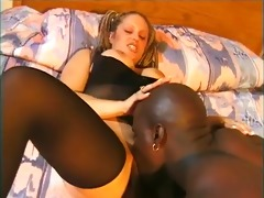 horny white slut takes a massive darksome ramrod