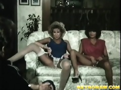 threesome on the couch