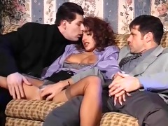 elegant simona valli bonks &; sucks 2 dicks