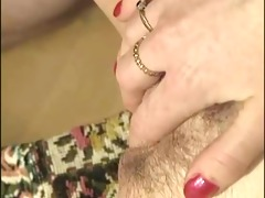 woman fingers a guy whilst he copulates her