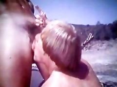 classic outdoor sex scene.