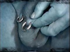 enormous metal! extreme vintage male piercing