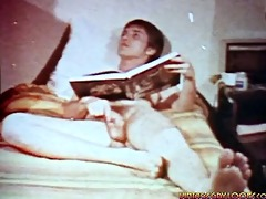 masked stud comes in and sucks masturbating