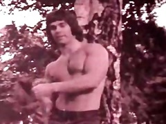 classic 70s groovy muscle guy gets bare
